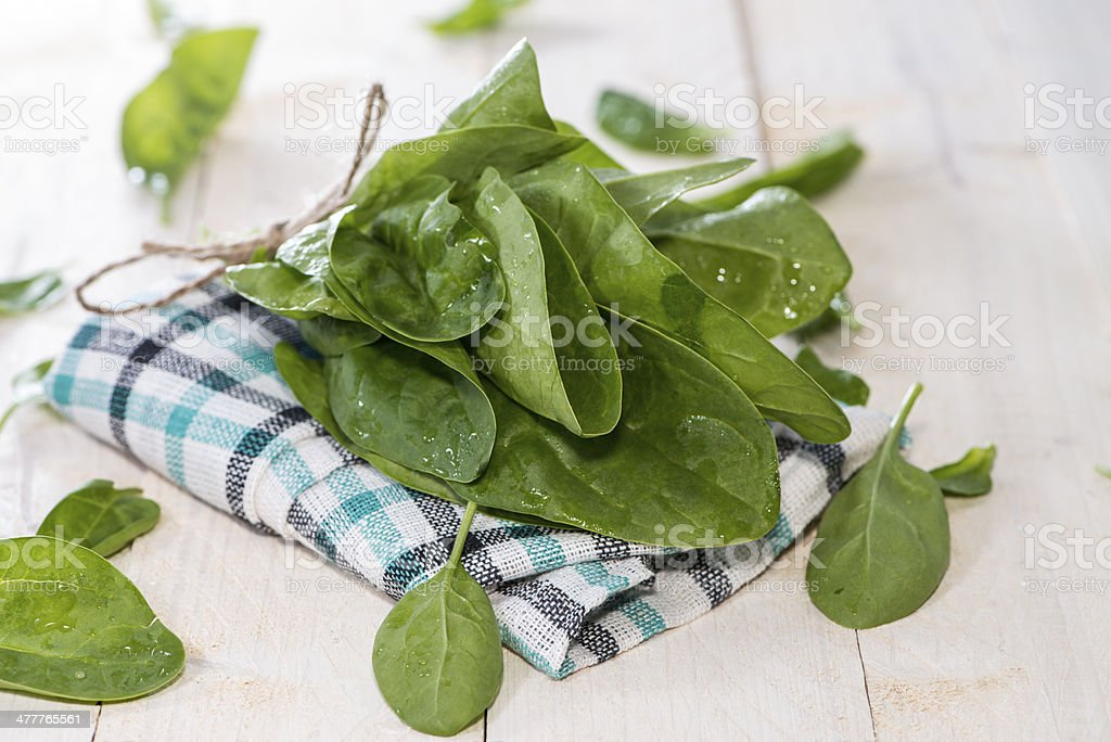 Small Portion of Spinach Leaves royalty-free stock photo