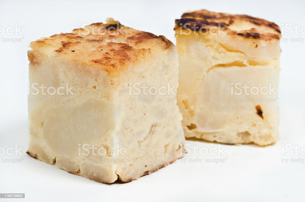Small portions of spanish omelette stock photo
