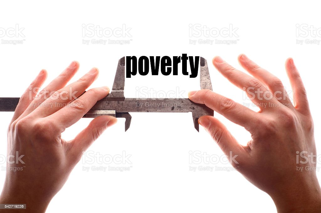 Small poverty concept stock photo