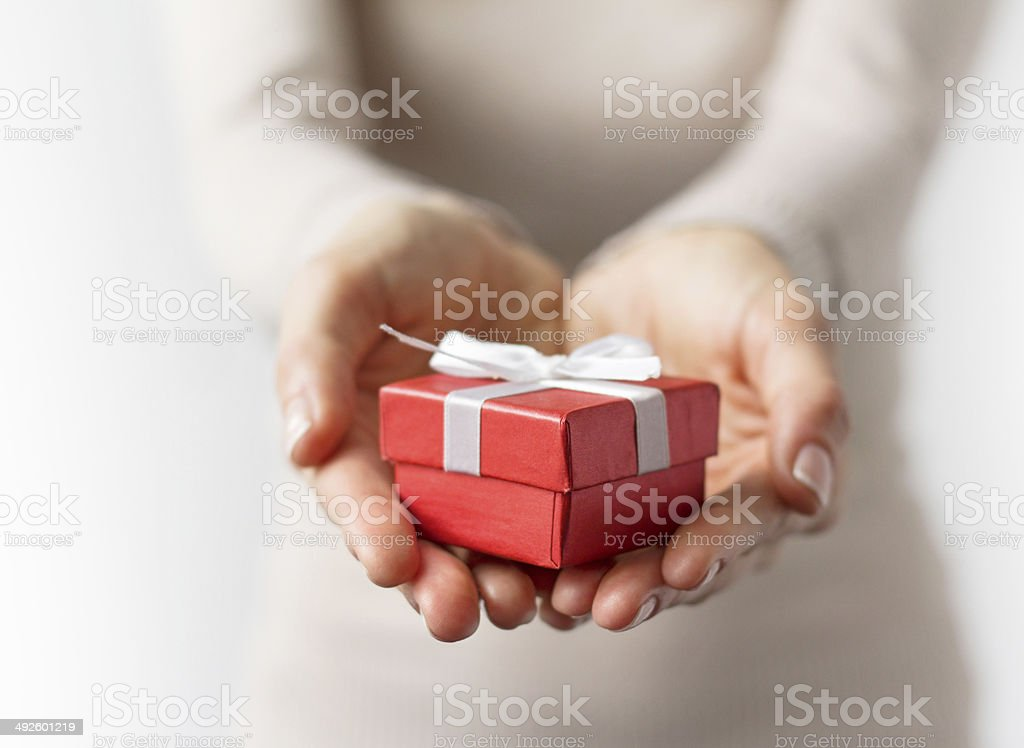 Small present box stock photo