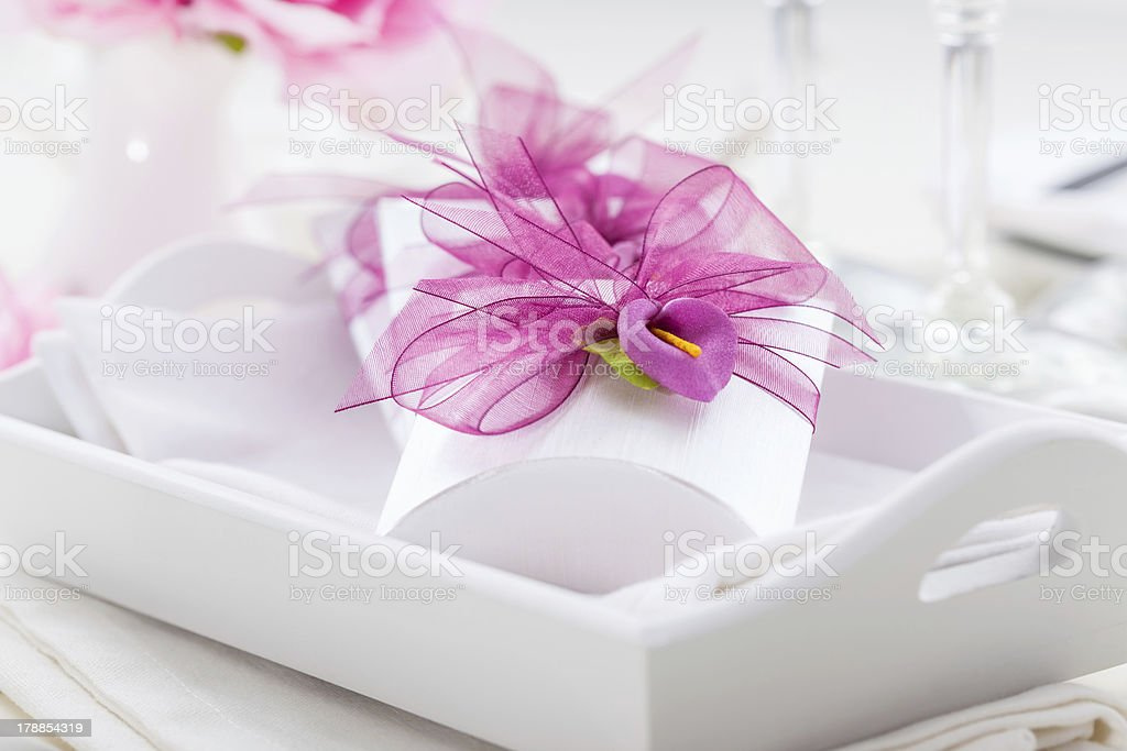 Small present for guest royalty-free stock photo