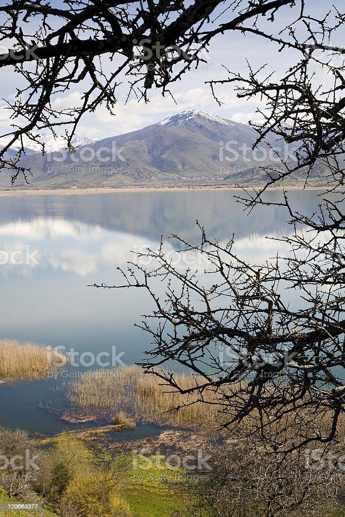 Small Prespa Lake, Greece royalty-free stock photo