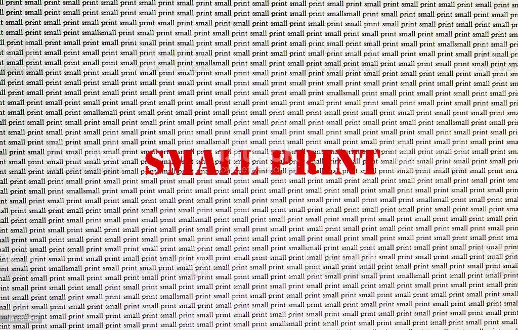 Small Print royalty-free stock photo