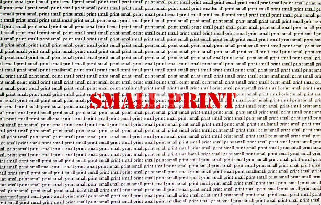 Small Print stock photo