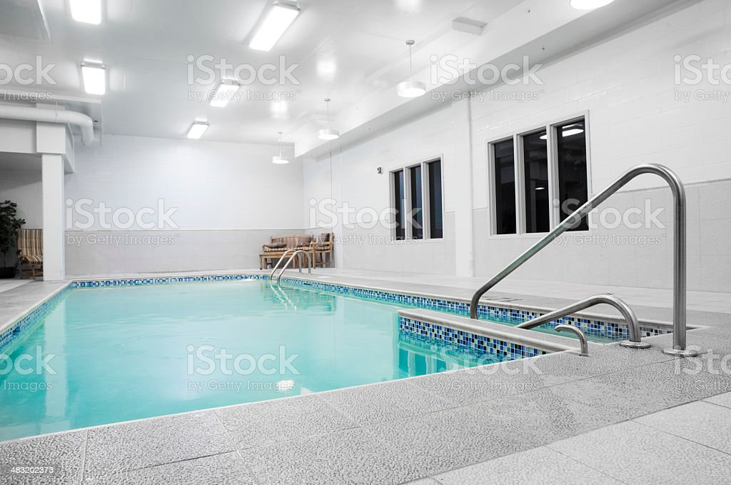 Small Private Indoor Pool stock photo