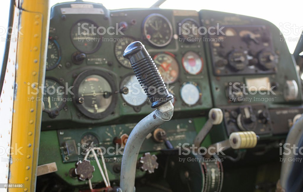 Small private motor airplane stock photo