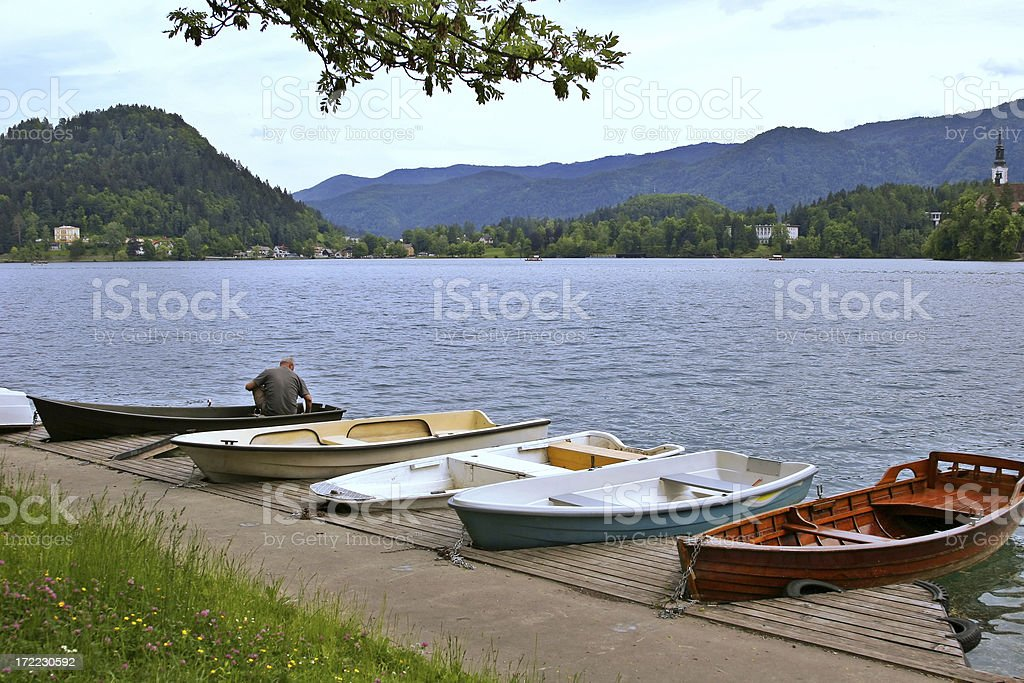 Small Quayside stock photo