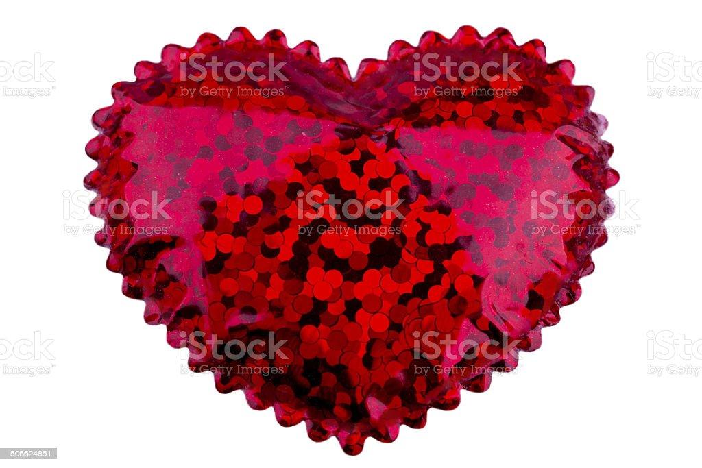 Pequena coração vermelho foto royalty-free