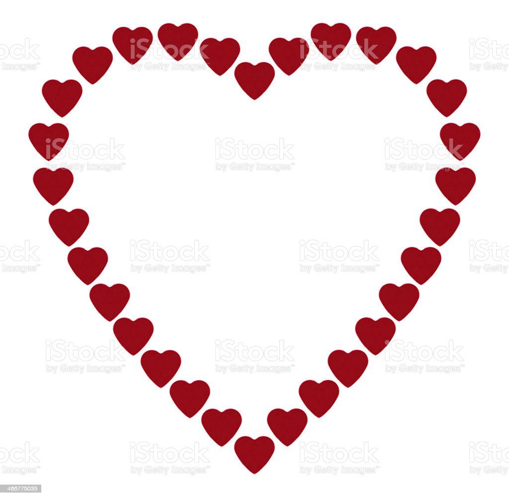 Piccolo rosso cuori forma un telaio a forma di cuore foto stock royalty-free
