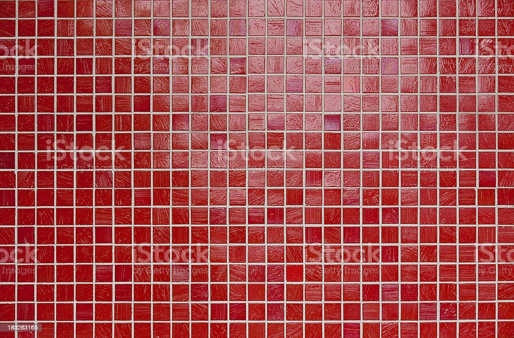 Small red mosaic tile background. stock photo