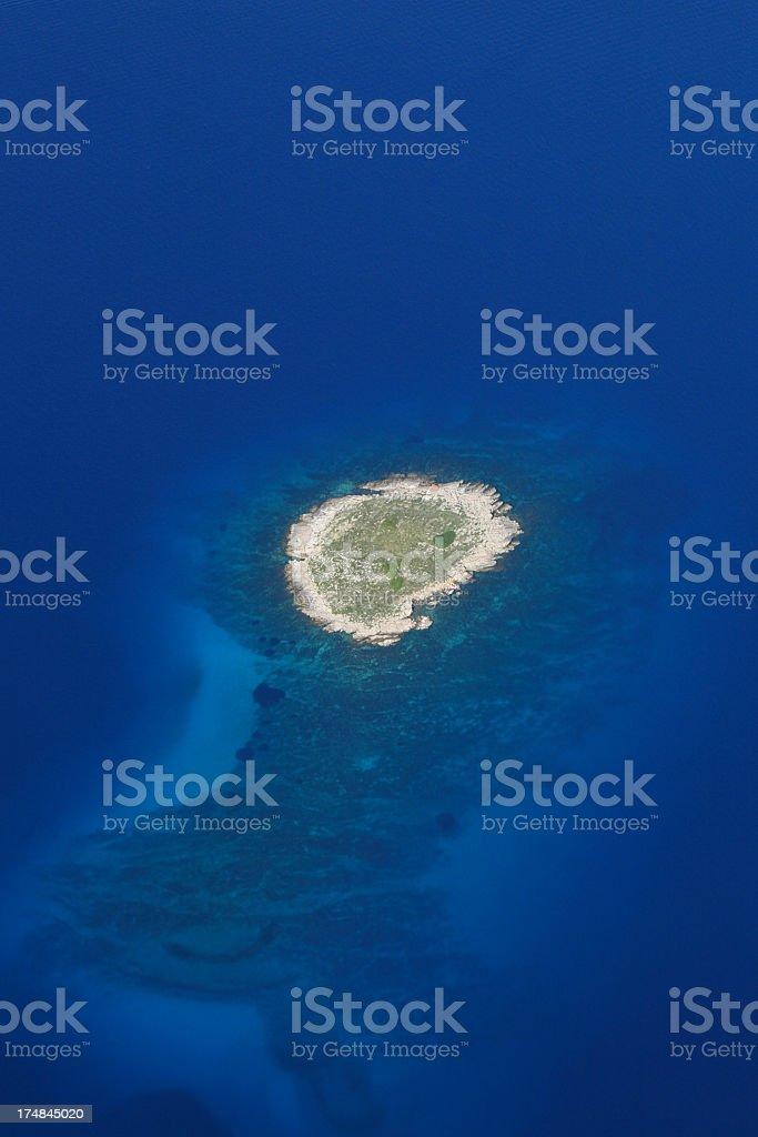 Small reef near the island of Losinj royalty-free stock photo
