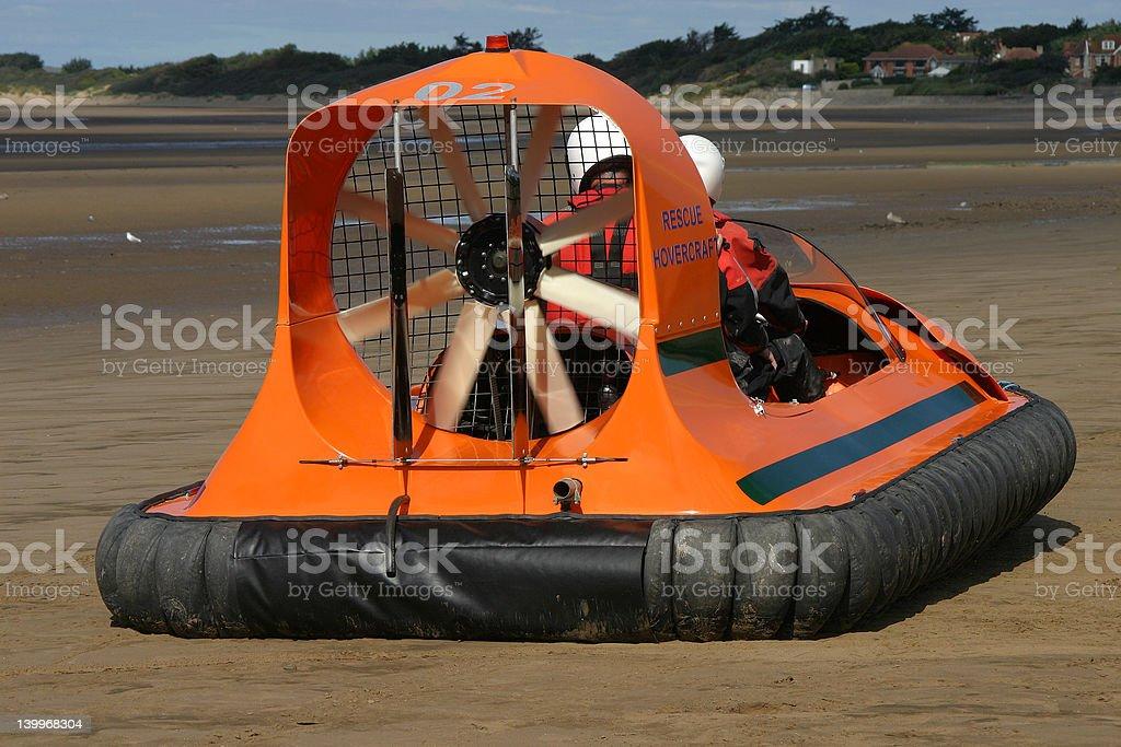 Small rescue hovercraft stock photo