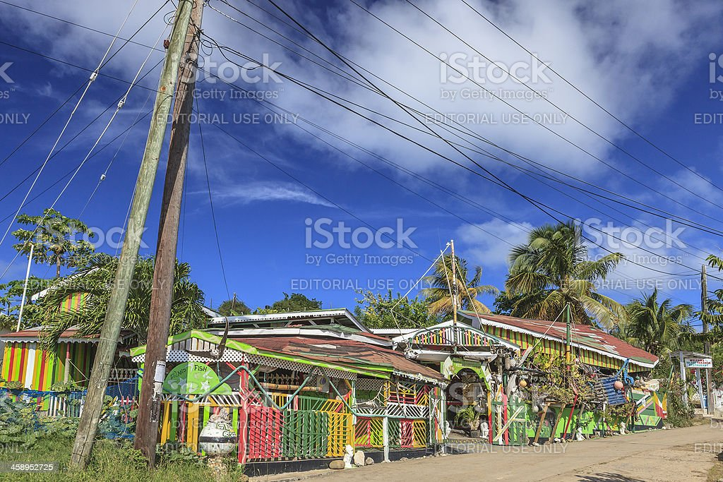 Small Restaurant On Mayreau Island, The Grenadines stock photo