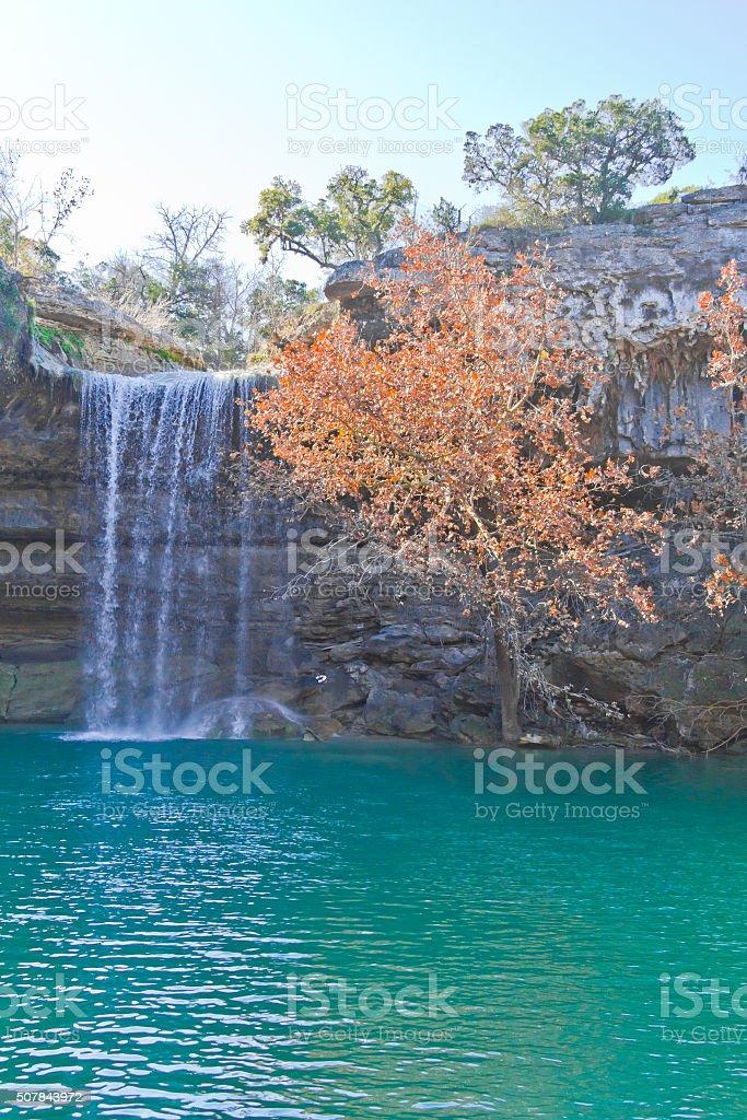 Small river at Hamilton Pool stock photo