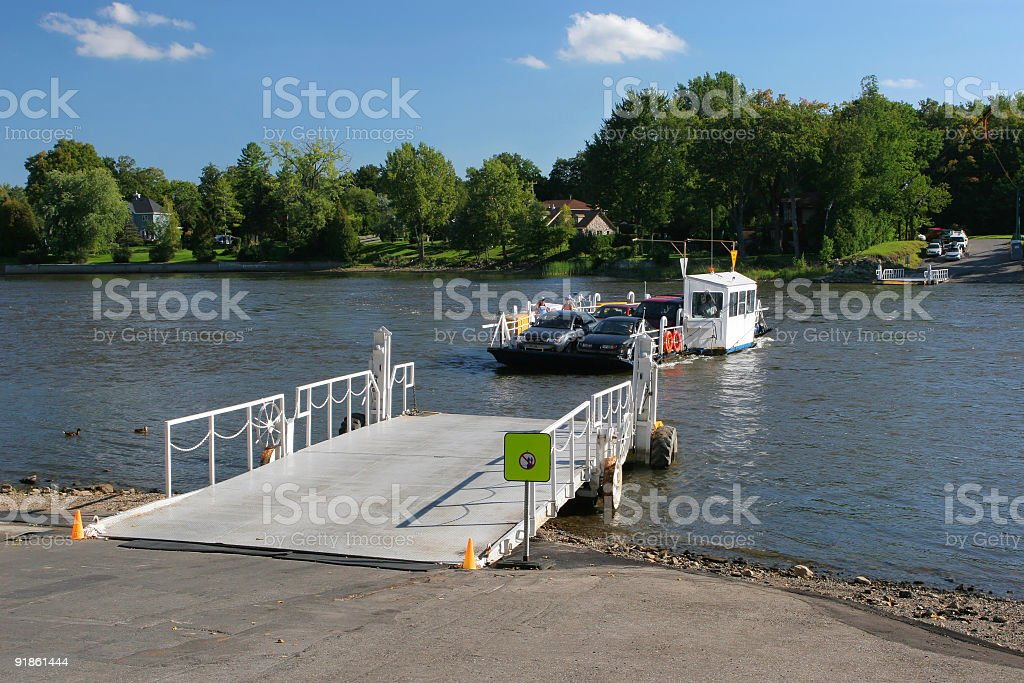 Small River Ferry stock photo