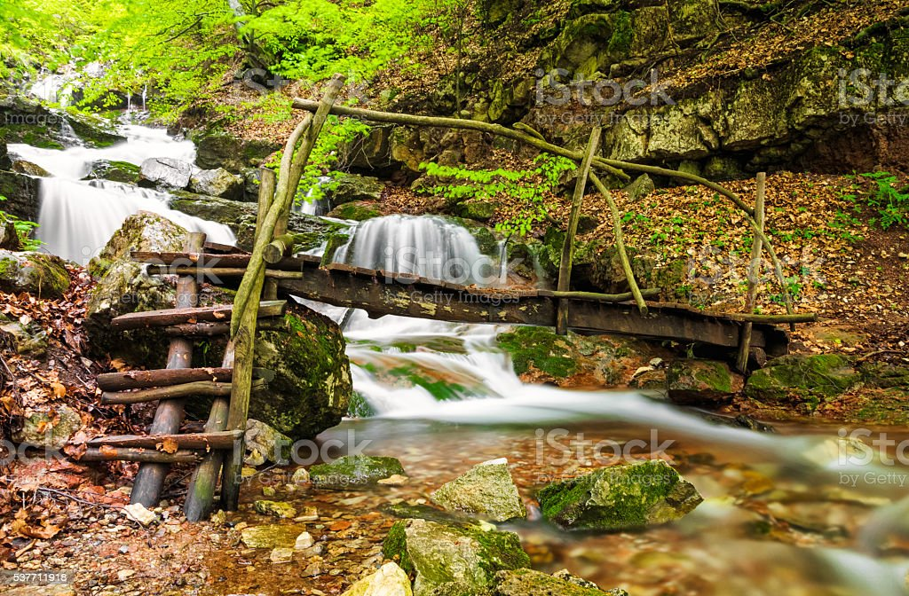 Small river in Balkan Mountains, Bulgaria stock photo