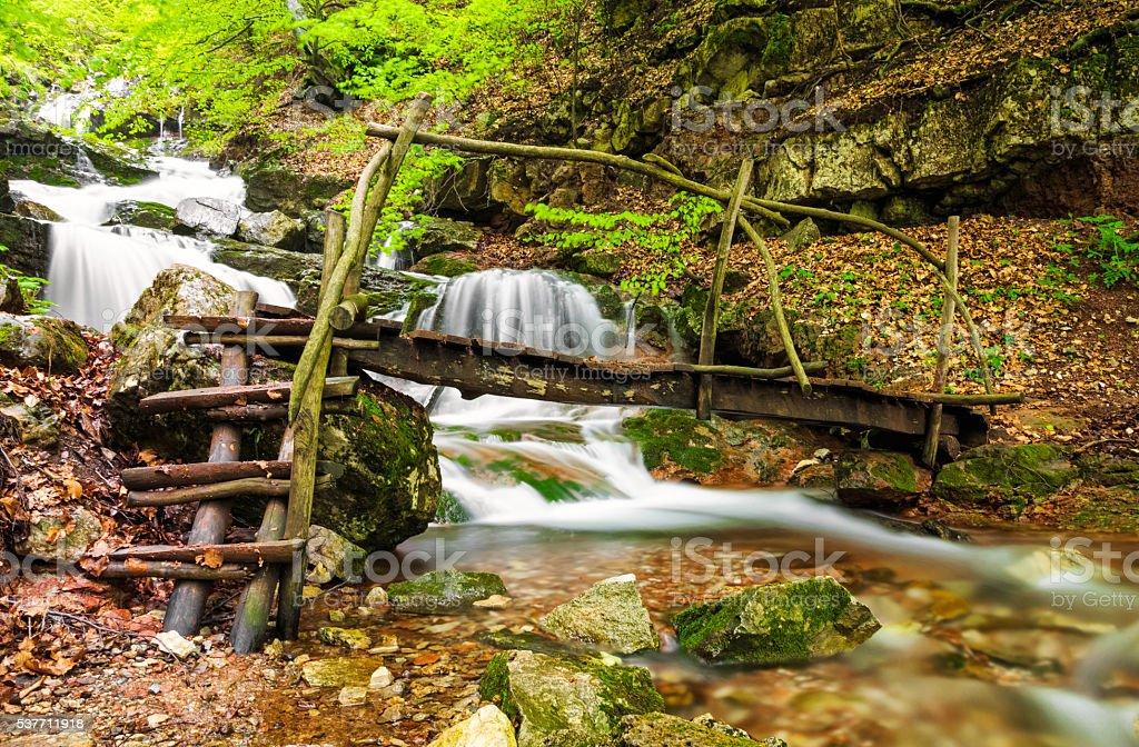 Small river in Balkan Mountains, Bulgaria stock photo