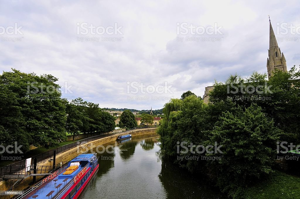 Small River in Bath-England royalty-free stock photo