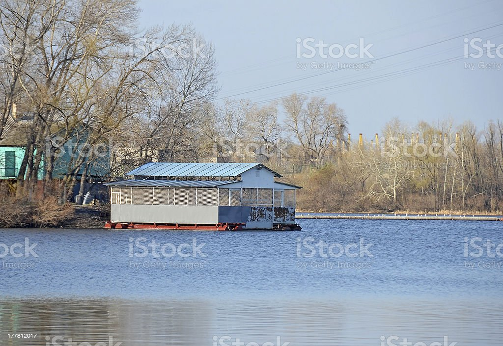 Small river quay royalty-free stock photo