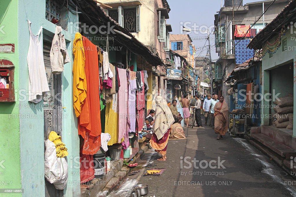Small road in Kolkata royalty-free stock photo