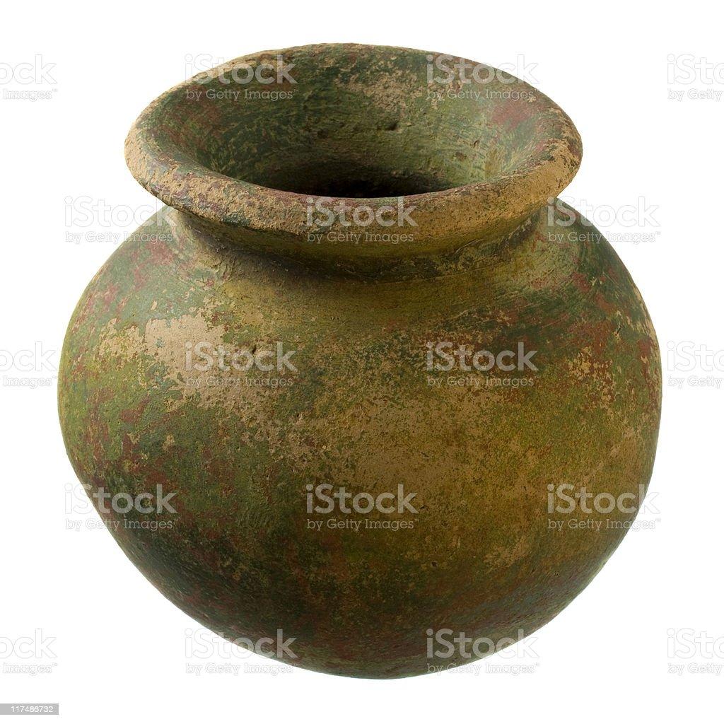 small rough clay plant pot royalty-free stock photo