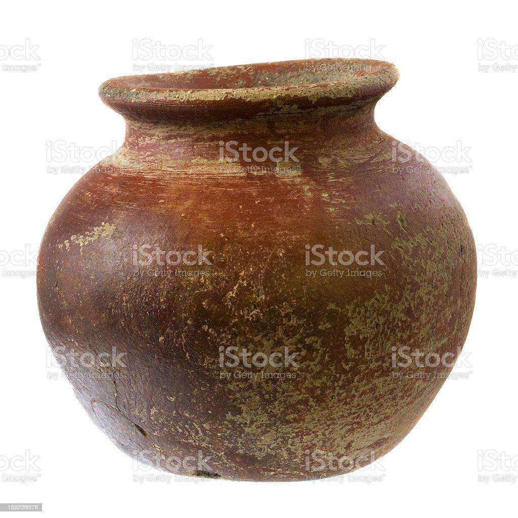 small, rough, clay plant pot royalty-free stock photo