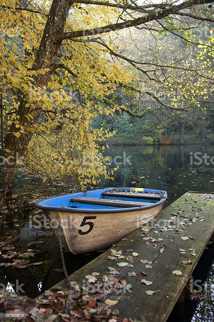 Small rowing boat royalty-free stock photo
