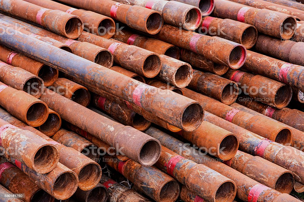 small rusted pipes stock photo