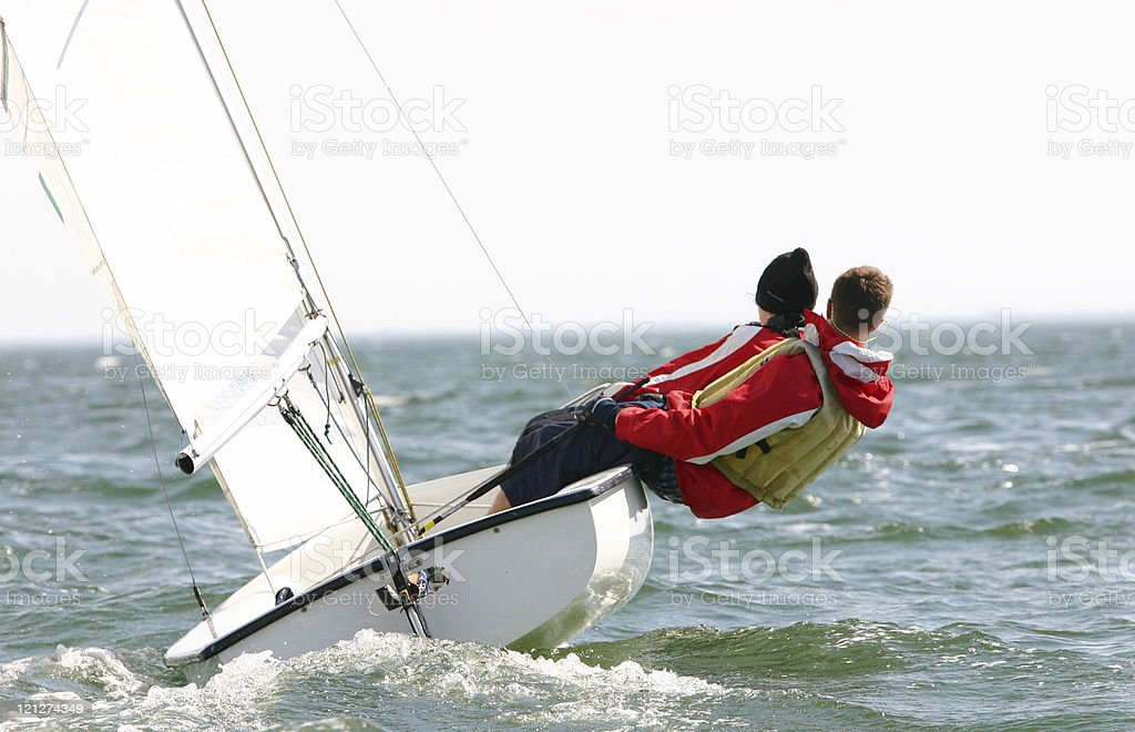 Small Sailboat Racing stock photo