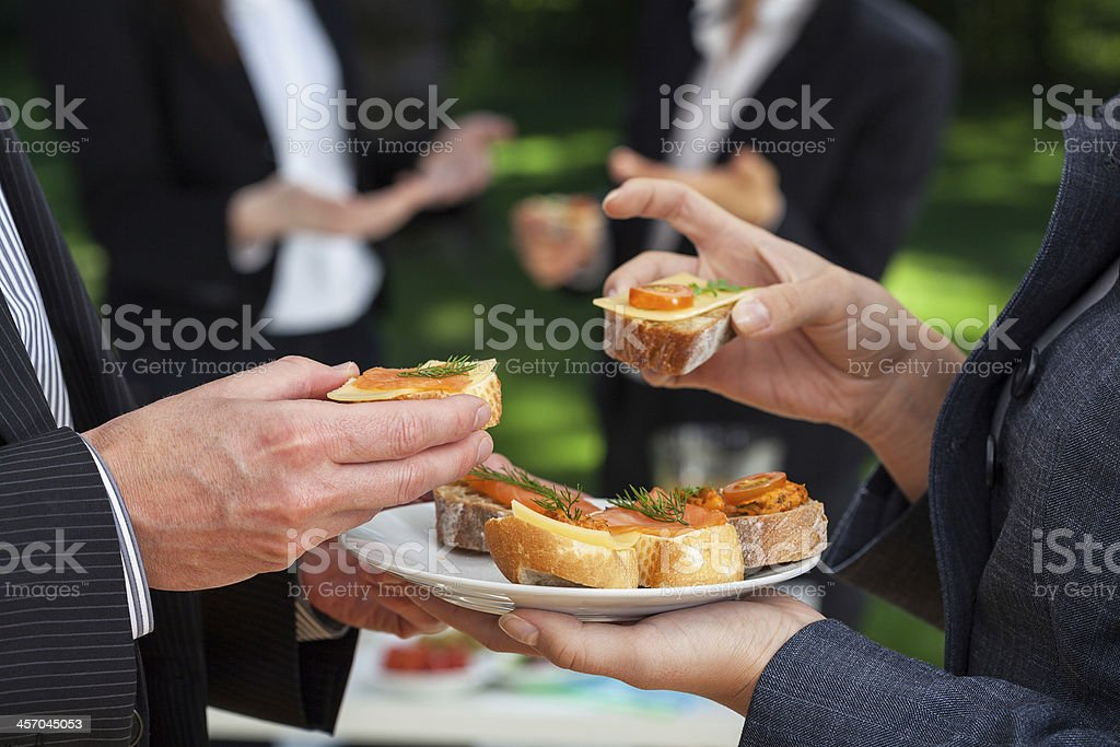 Small sandwiches on office meal royalty-free stock photo