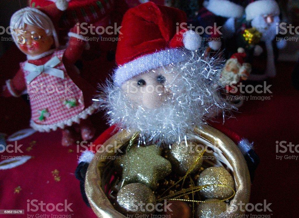 small santas stock photo