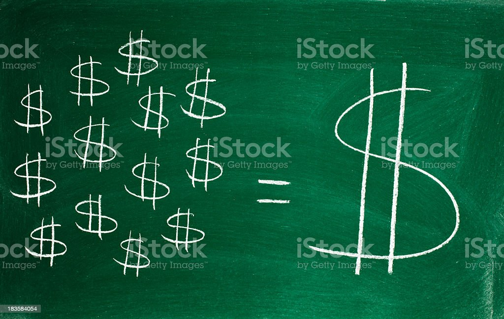 small savings make a big fortune royalty-free stock photo