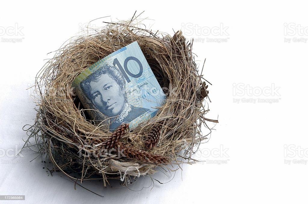 Small Savings Nest Egg stock photo