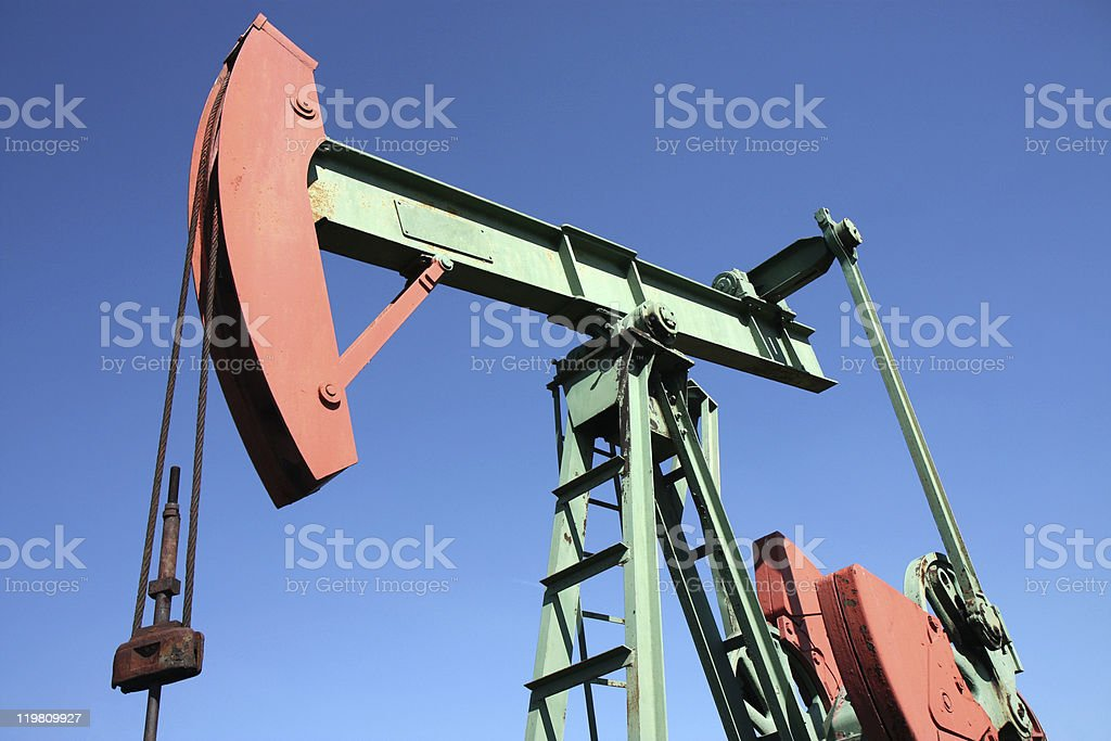 small scale crude-oil productionin in europe royalty-free stock photo