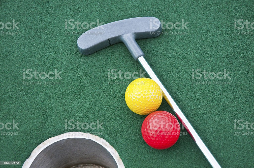 Small Scale Golf royalty-free stock photo
