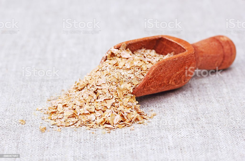 Small Scoop of Wheat Bran stock photo