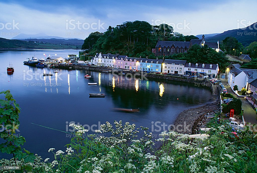 Small scotish harbour royalty-free stock photo