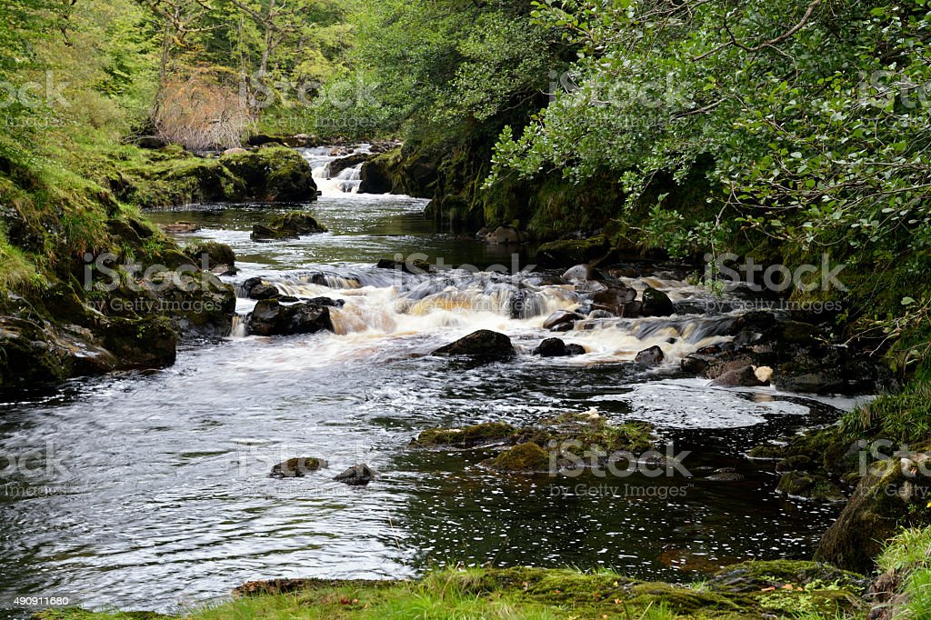 Small Scottish river in rural Dumfries and Galloway stock photo