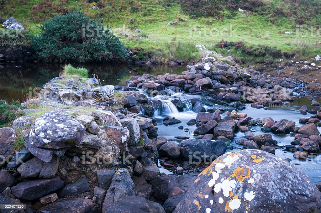 Small Scottish waterfall stock photo