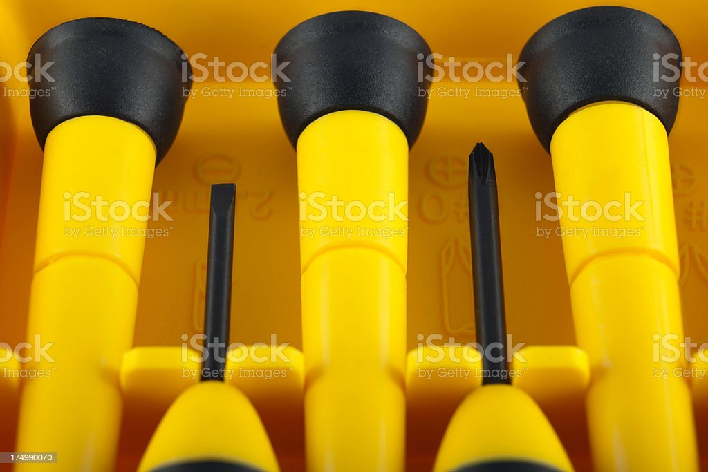 Small screwdriver set for watch stock photo