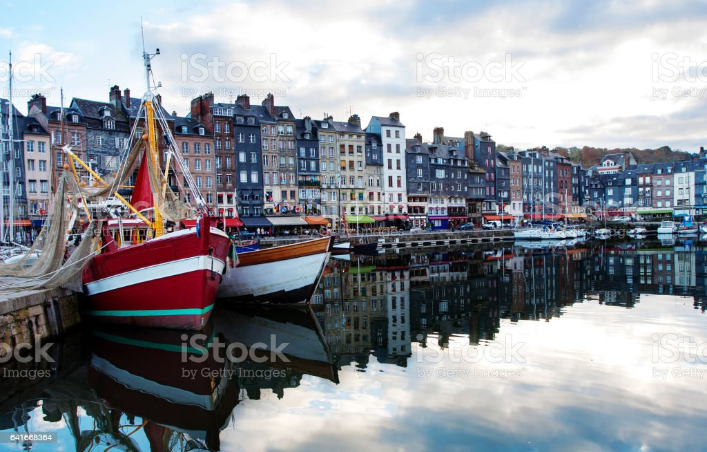 small sea port. Port of Deauville, France stock photo