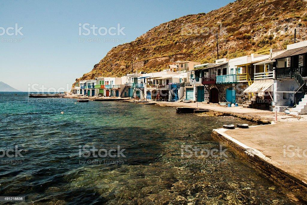Petit village de bord de mer photo libre de droits