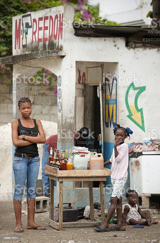 Small shop in Haiti royalty-free stock photo