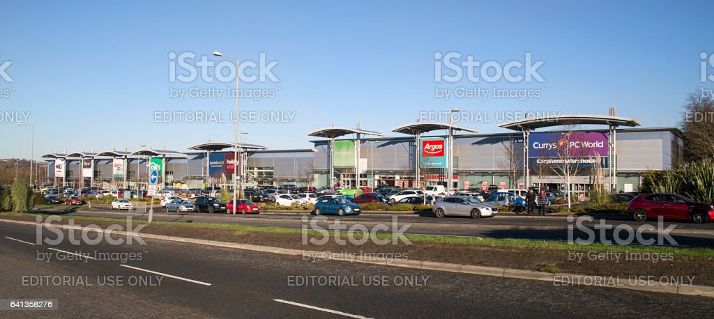 Small Shopping Mall in Swansea stock photo