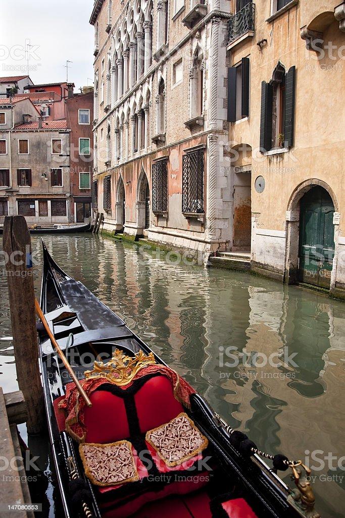 Small Side Canal Bridge Gondola Venice Italy royalty-free stock photo