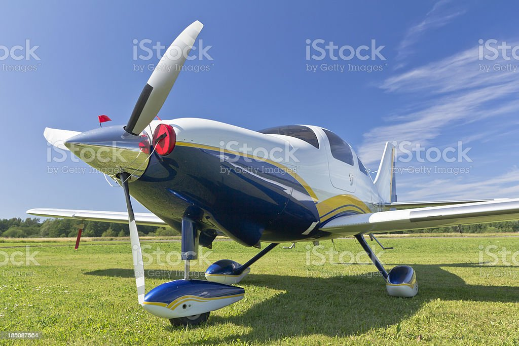 Small Single Engine Propeller Airplane royalty-free stock photo