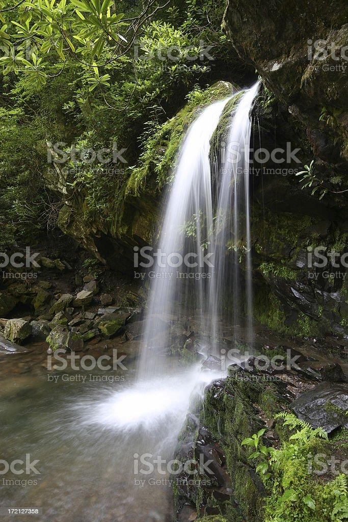 Small Smoky Mountain Waterfall royalty-free stock photo