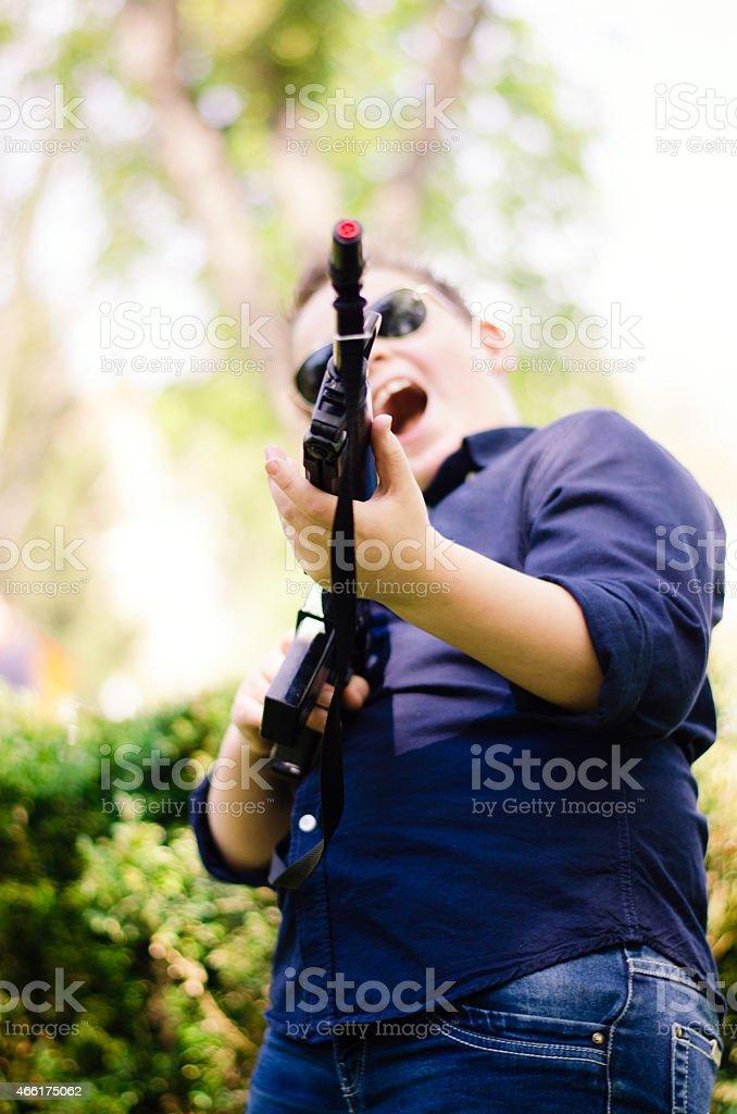 small sniper stock photo