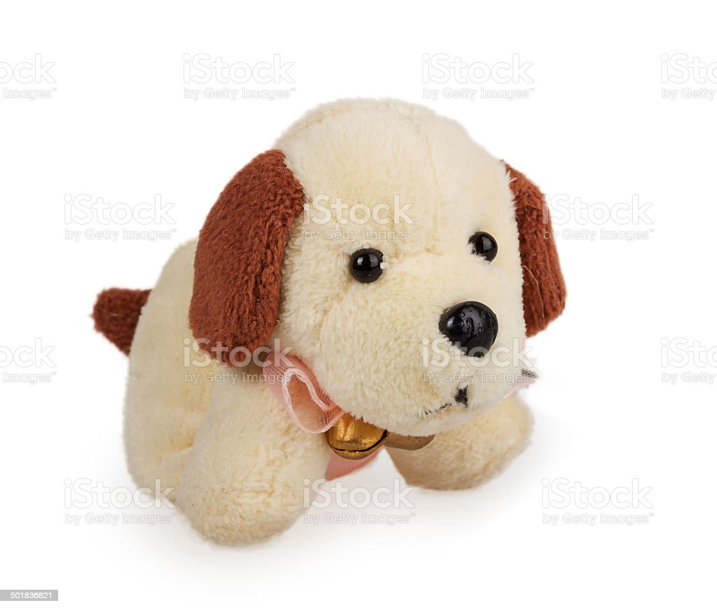 small soft toy dog stock photo