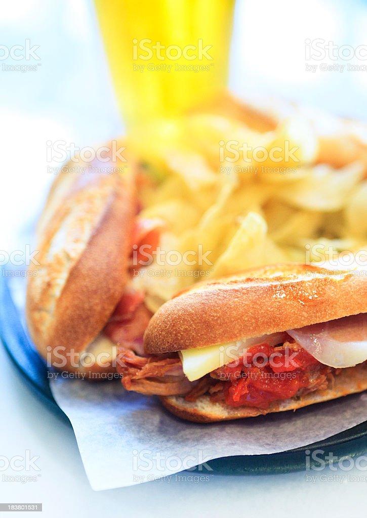 small spanish sandwich stock photo